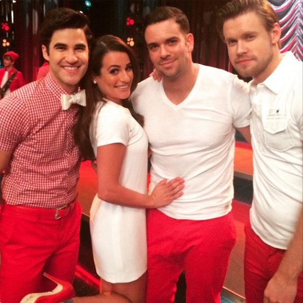 Mark Salling, Glee, Instagram