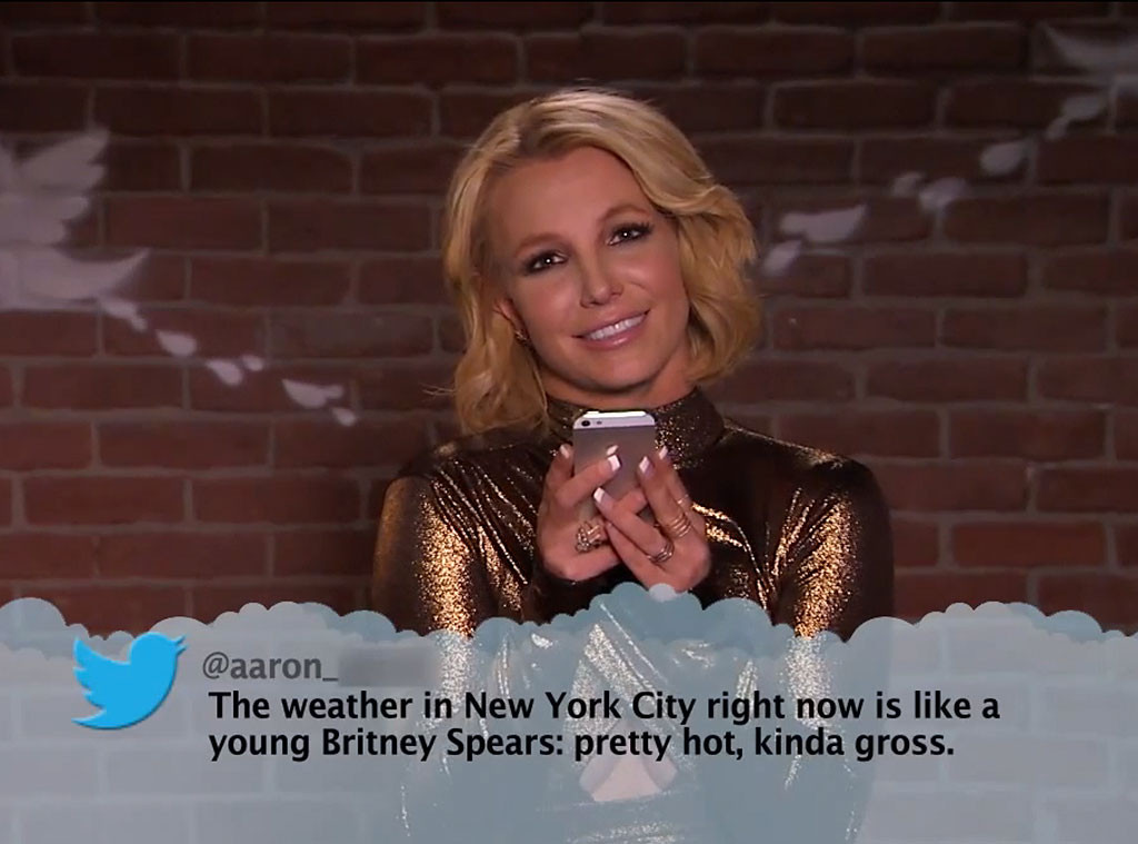 John Stamos, Britney Spears Star in 'Celebrities Read Mean ...