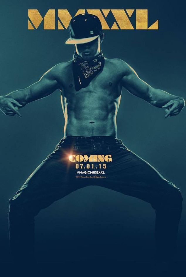 magic mike xxl poster features channing tatum and his famous abs see the sexy pic e news. Black Bedroom Furniture Sets. Home Design Ideas
