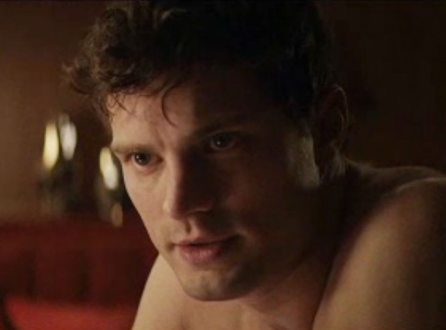 Fifty shades of grey shirtless jamie dornan warns dakota for What kind of movie is fifty shades of grey