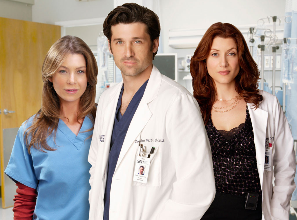 TV Love Triangles, Patrick Dempsey, Kate Walsh, Ellen Pompeo