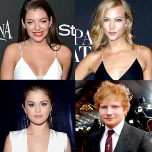 Lorde, Ed Sheeran, Selena Gomez, Karlie Kloss