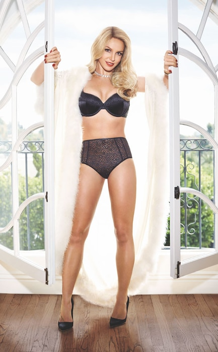 Britney Spears' Legs Look Long and Lean in Lingerie Ad