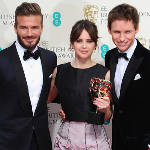 David Beckham, Felicity Jones, Eddie Redmayne, British Academy Film Awards