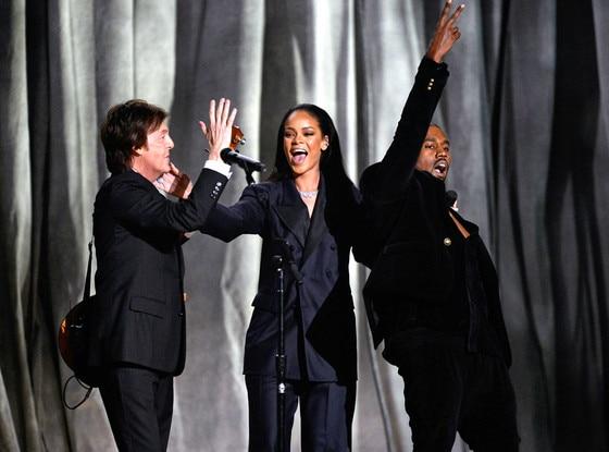 Paul McCartney, Rihanna, Kanye West, Grammy Awards