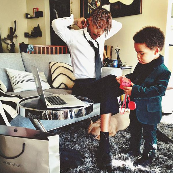 Wiz Khalifa's Baby Boy Sebastian Steals the Grammys Red ...