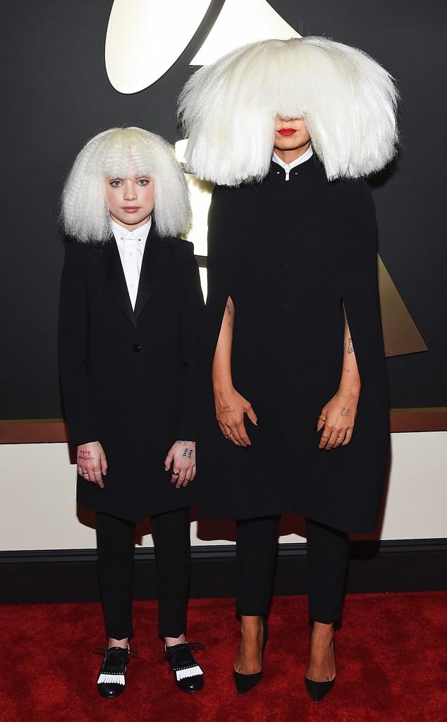 Sia Amp Dance Moms Maddie Ziegler Hit The 2015 Grammys Red