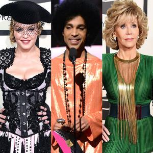 Madonna, Prince, Jane Fonda, Grammy Awards