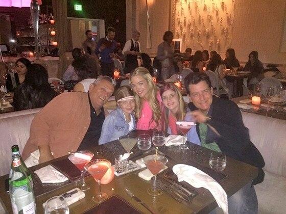 Denise Richards, Charlie Sheen, Sami Sheen