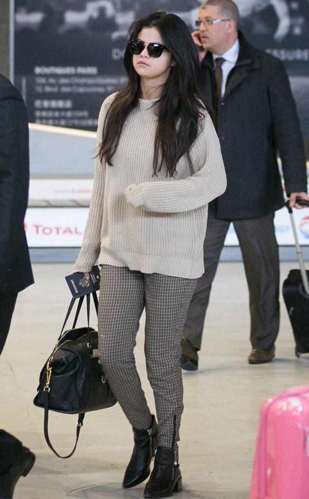 Selena Gomez From Stars At Paris Fashion Week Fall 2015 E News