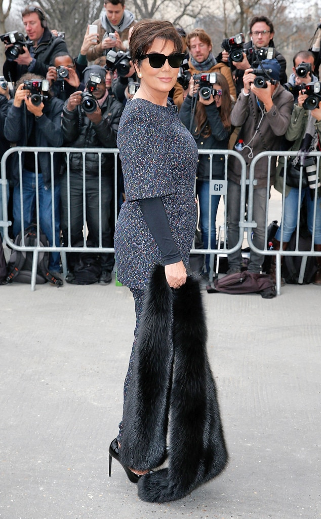 Kris Jenner From Stars At Paris Fashion Week Fall 2015 E News