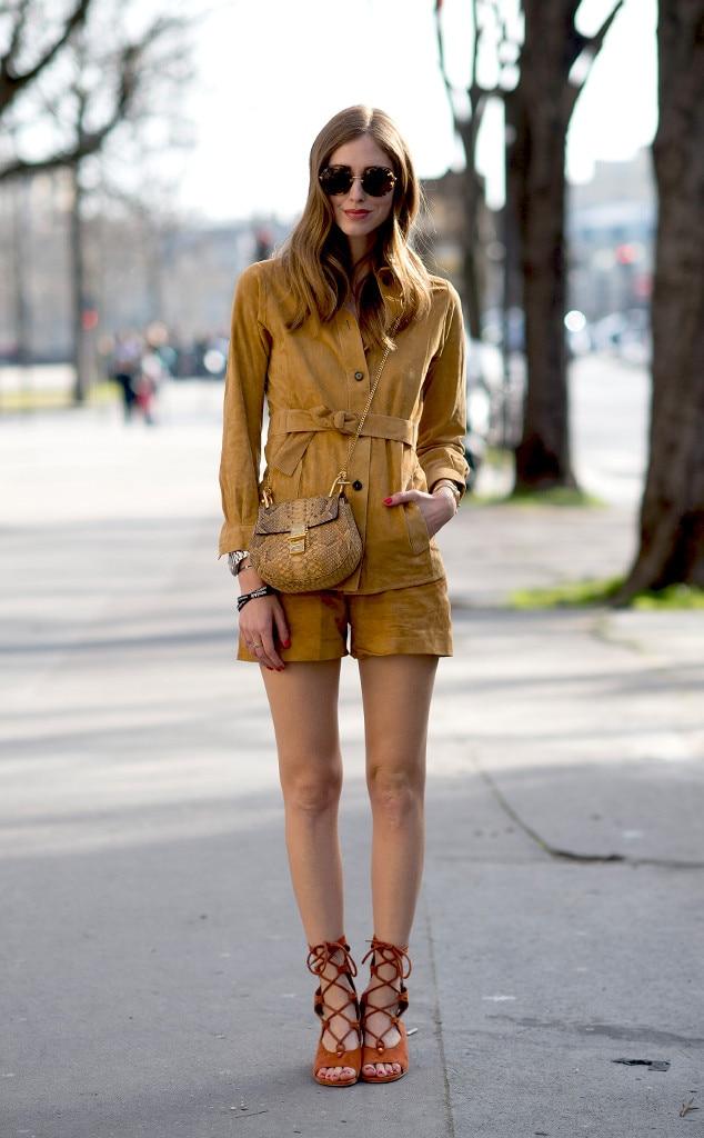 Chiara Ferragni From Street Style Paris Fashion Week E