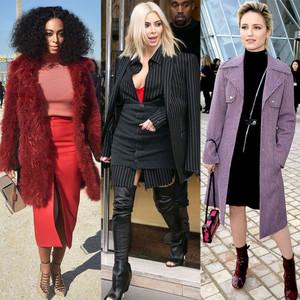 Solange Knowles, Kim Kardashian, Dianna Agron, Pinstripes