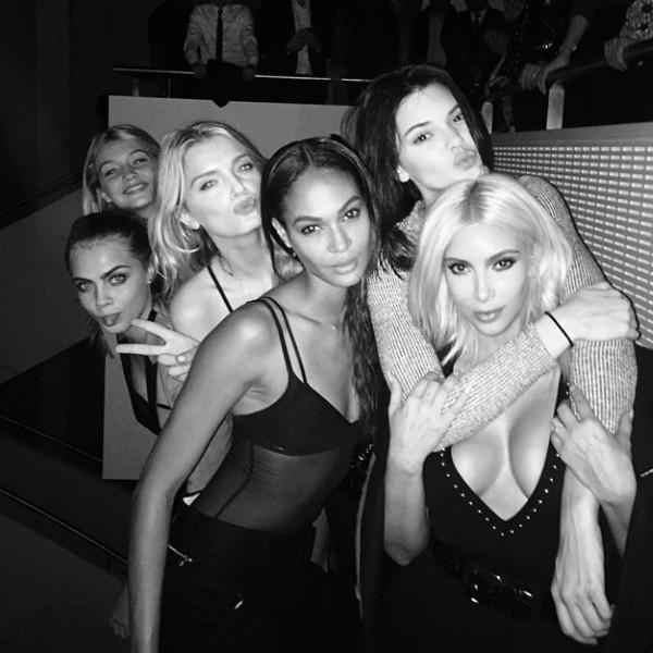 Gigi Hadid, Lily DOnaldson, Cara Delevingne, Gigi Hadid, Joan Smalls, Kendall Jenner, Kim Kardashian