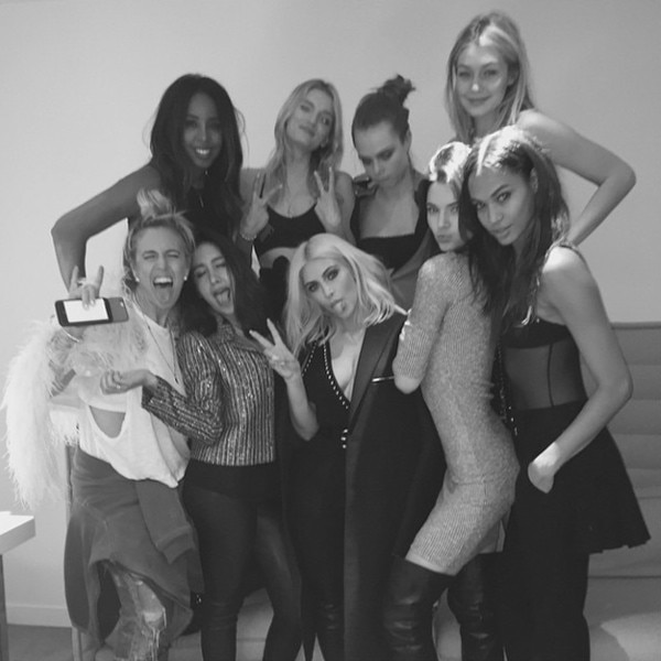 Kelly Rowland, Lily Donaldson, Cara Delevingne, Gigi Hadid, Joan Smalls, Kendall Jenner, Kim Kardashian
