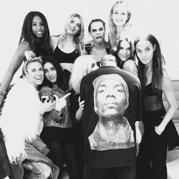 Kelly Rowland, Lily Donaldson, Cara Delevingne, Gigi Hadid, Joan Smalls, Kendall Jenner, Kim Kardashian, Kanyea