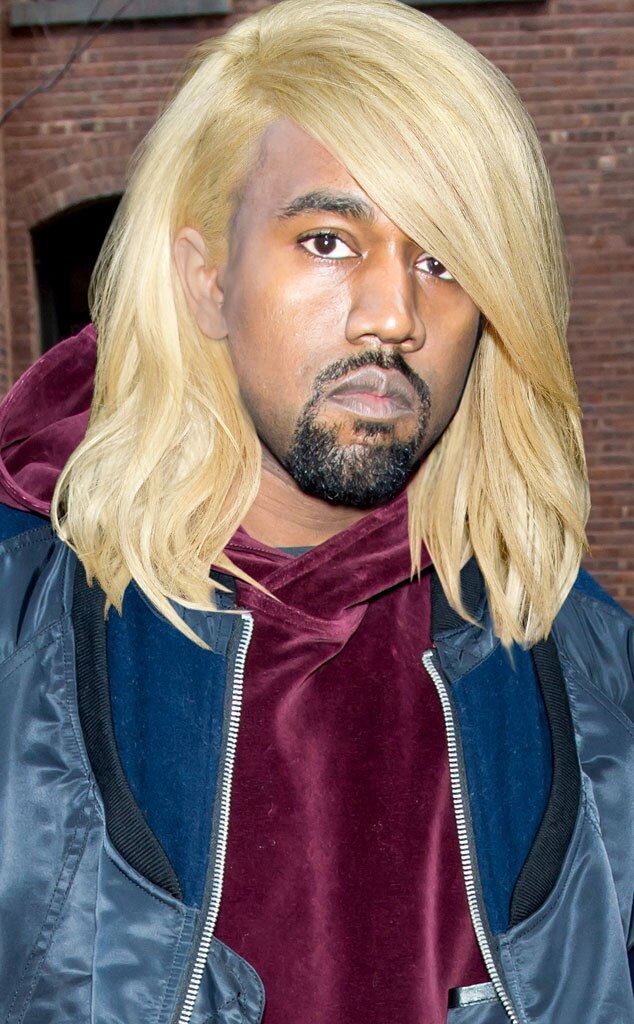 Kanye West From Kardashian Hair Swap Kim S Blond Bob On