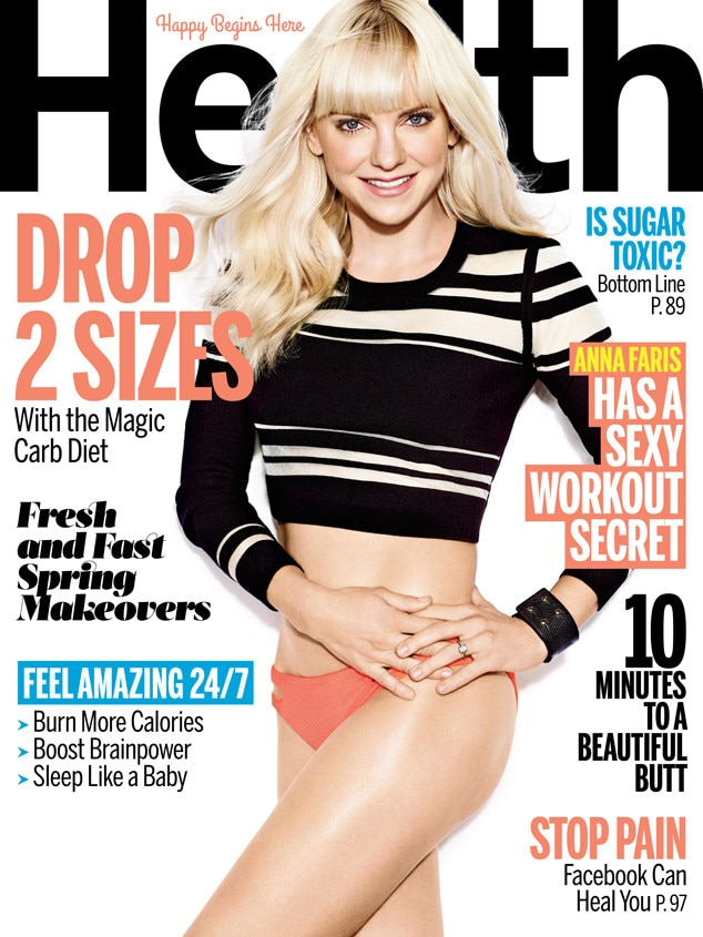 Anna Faris, Health magazine
