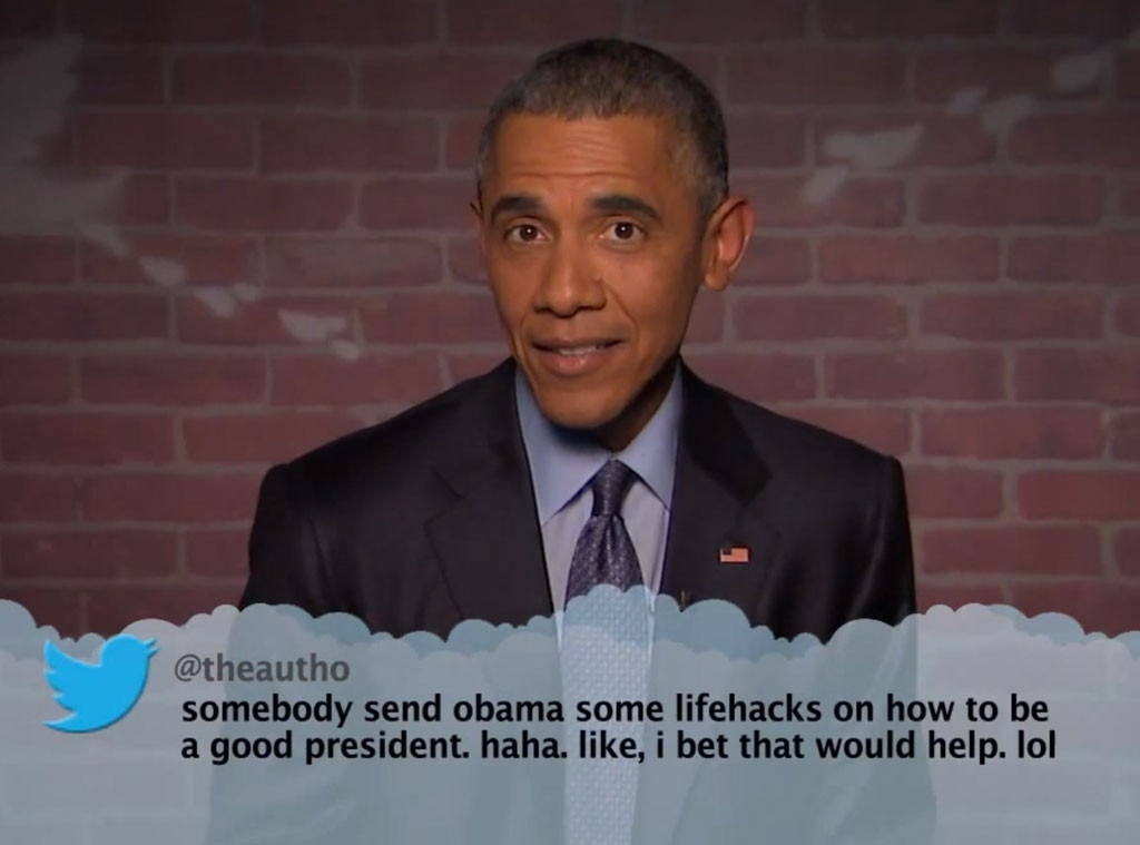Obama reads mean tweet from Trump - CNN Video