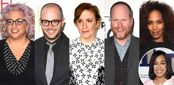 Shonda Rhimes, Jenji Kohan, Damon Lindelof, Lena Dunham, Joss Whedon, Mara Brock Akil