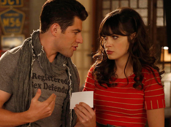Zooey Deschanel, Max Greenfield, New Girl
