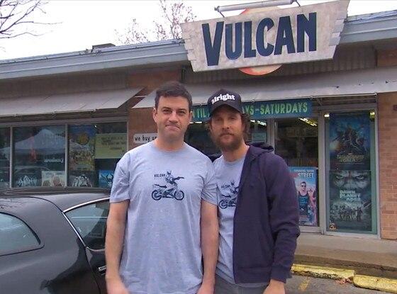Jimmy Kimmel, Matthew McConaughey, Vulcan Video