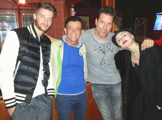 Miley Cyrus, Patrick Schwarzenegger, Jamie Masada, Dane Cook