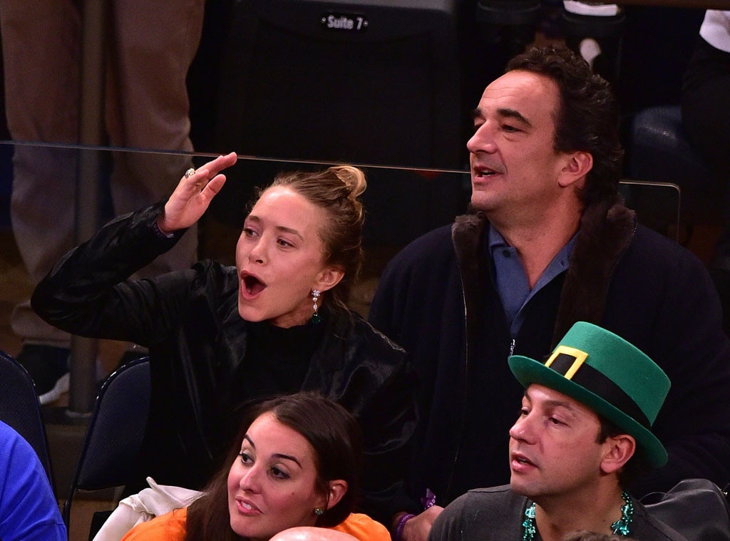 Mary-Kate Olsen, Oliver Sarkozy, San Antonio Spurs Game