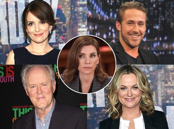Amy Poehler, John Lithgow, Ryan Gosling, Tina Fey, Julianna Margulies, The Good Wife