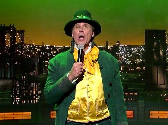 Will Ferrell, David Letterman, St. Patricks Day