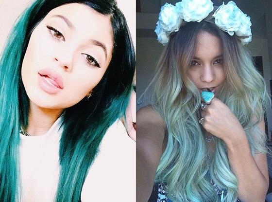 Kylie Jenner, Vanessa Hudgens, Blue Hair