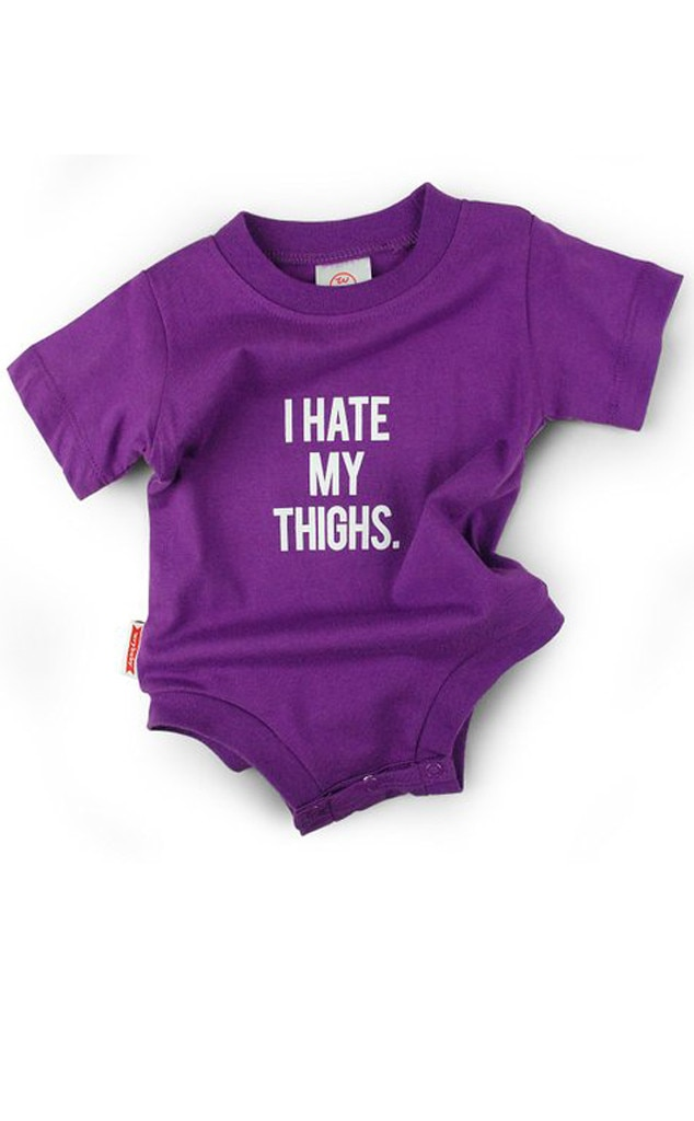 Wry Baby Hate my Thighs Onesie