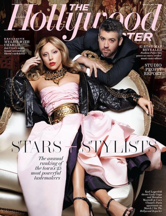 The Hollywood Reporter, Lady Gaga, Brandon Maxwell