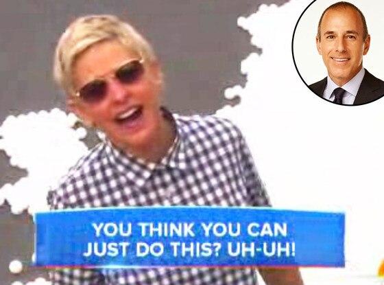 Ellen DeGeneres, Matt Lauer