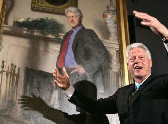 Bill Clinton, Portrait, Monica Lewinsky Dress
