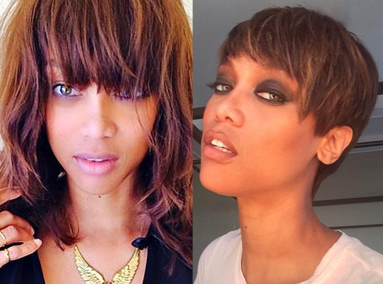 Groovy Tyra Banks Chops Off Her Hair Debuts New Pixie Cut Check Out Her Short Hairstyles Gunalazisus