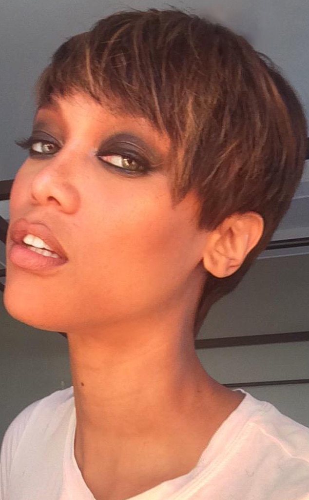 Astonishing Tyra Banks Chops Off Her Hair Debuts New Pixie Cut Check Out Her Short Hairstyles Gunalazisus