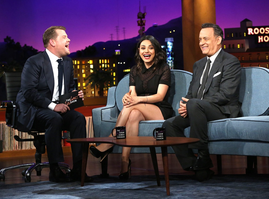 James Corden, Tom Hanks, Mila Kunis