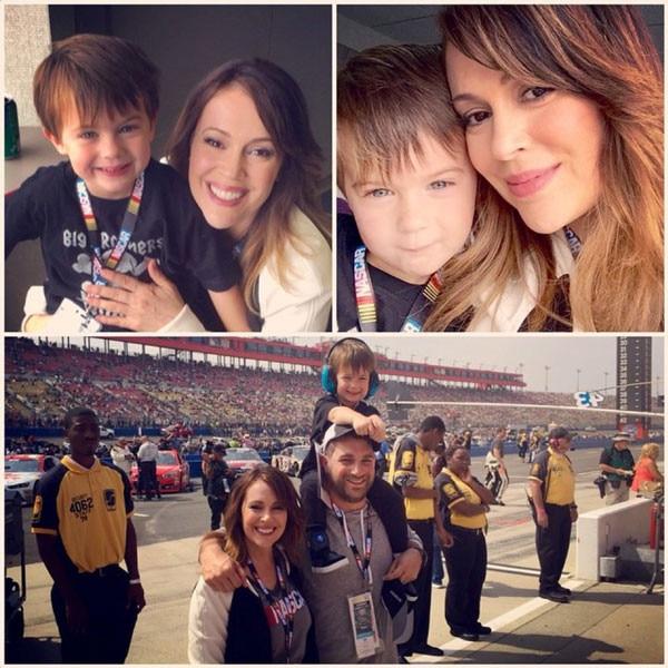 Alyssa Milano, NASCAR, Milo, Instagram