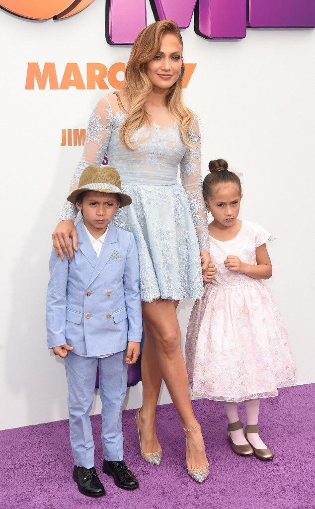Jennifer Lopez, Maximilian David Muniz, Emme Maribel Muniz