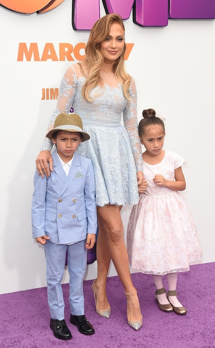 Jennifer Lopez, Maximilian David Muniz, Emme Maribel Muniz