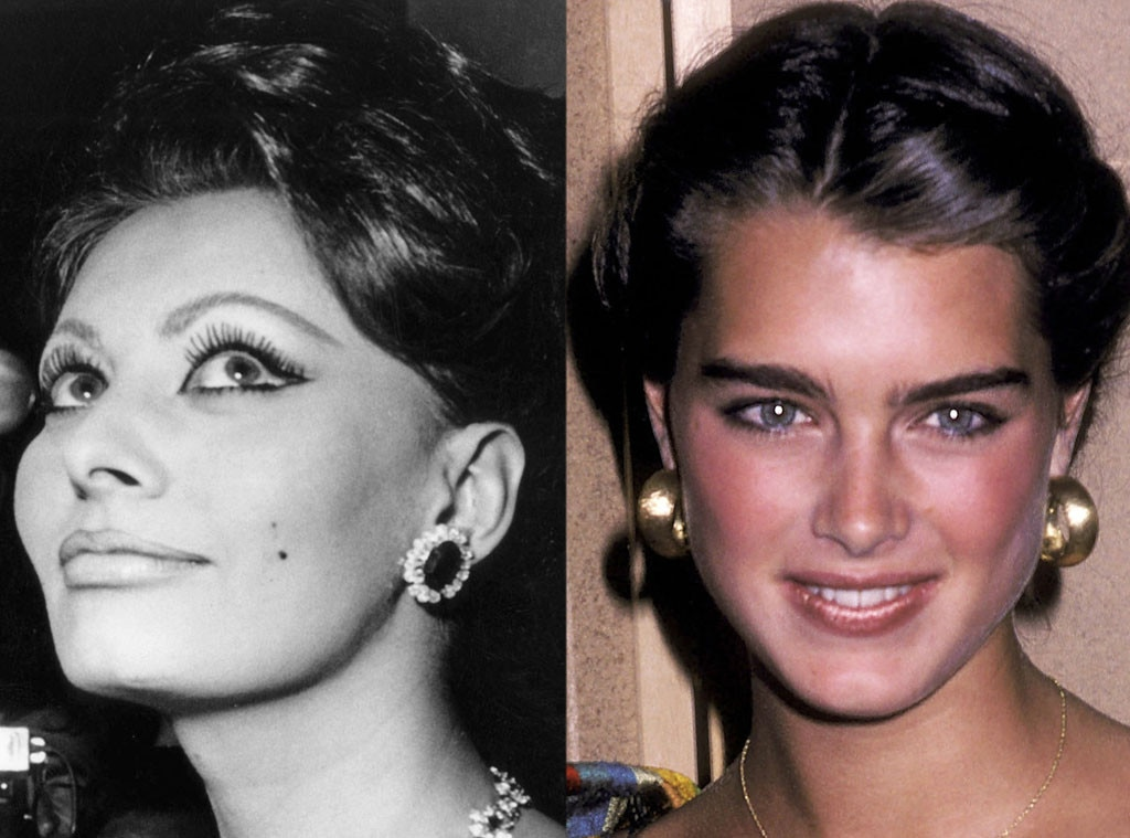 History of Eyebrows, Sophia Loren, 1966, Brooke Shields, 1981