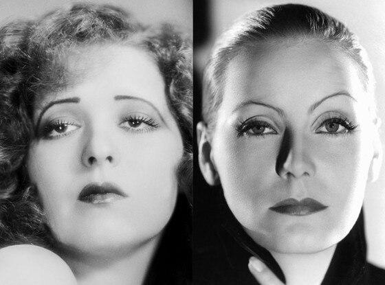 History of Eyebrows, Clara Bow, 1930, Greta Garbo, 1935