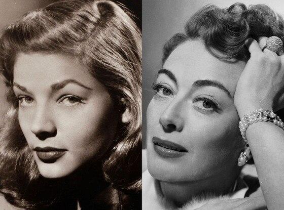 History of Eyebrows, Lauren Bacall, 1944, Joan Crawford, 1952