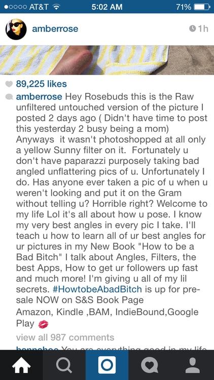 Amber Rose, Bikini, Instagram