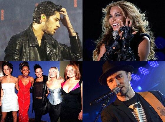 Zayn Malik, Beyonce, Justin Timberlake, Spice Girls
