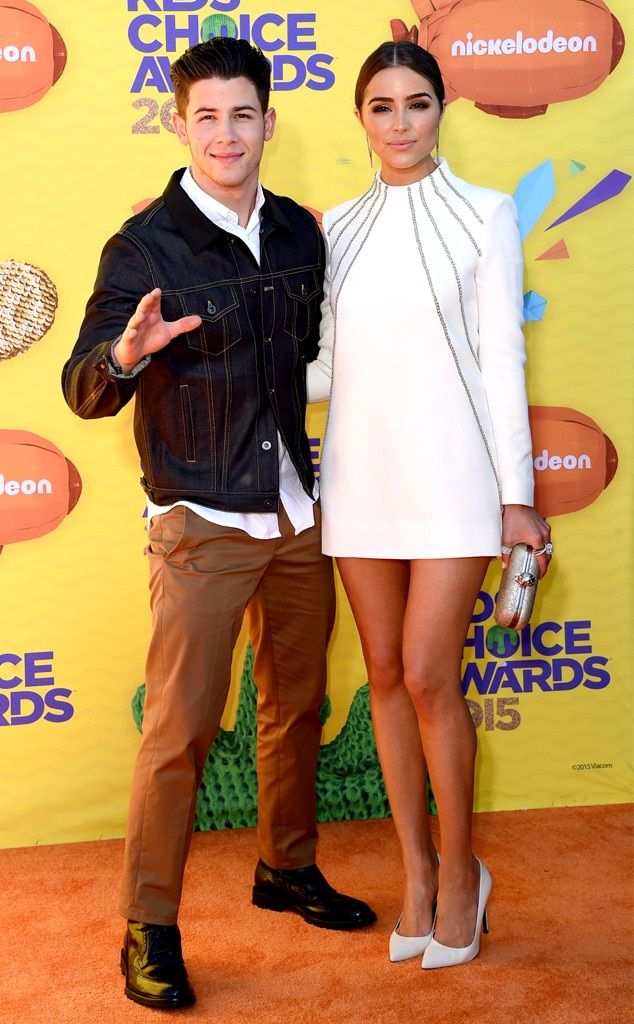 Nick Jonas, Olivia Culpo, Kids' Choice Awards 2015