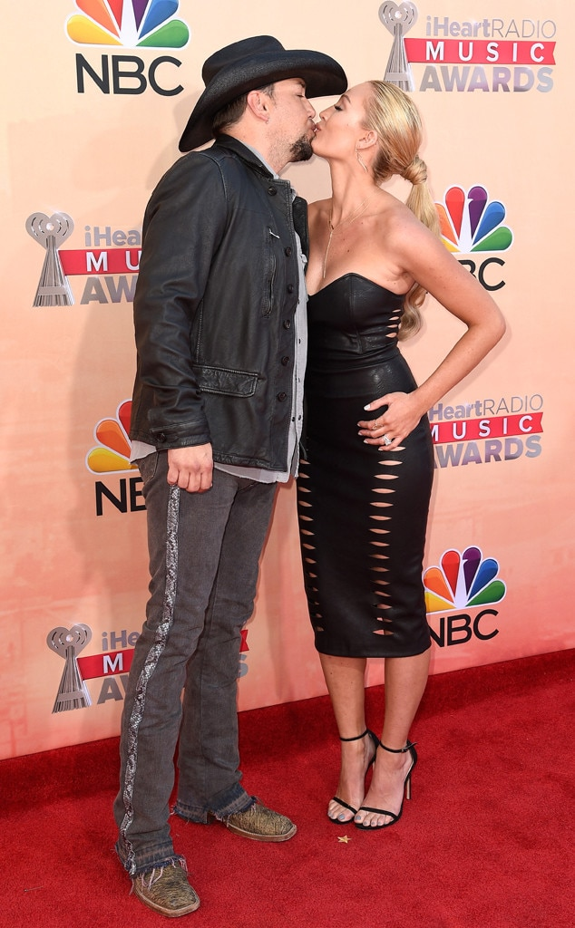 Jason Aldean, Brittany Kerr, iHeartRadio Music Awards