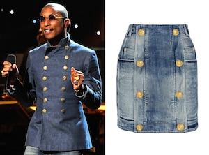 Pharrell Williams, Double Breasted Denim