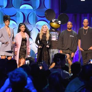 Usher, Rihanna, Nicki Minaj, Madonna, Deadmau5, Kanye West, JAY Z, J. Cole, Tidal Launch